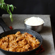 Kerala Chicken Curry with Roasted Coconut and Spices