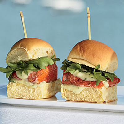 Sockeye Sliders with Wasabi-Ginger Aïoli