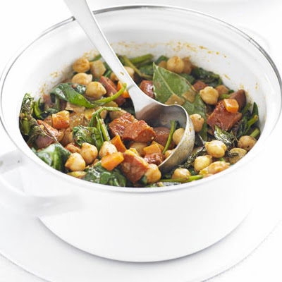 Chickpea, Chorizo & Spinach Stew