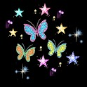 3D dancing butterfly icon
