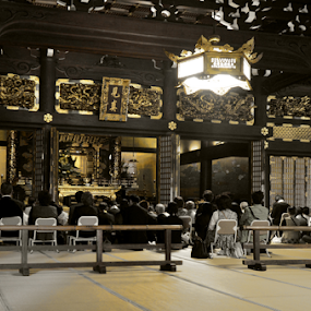 Kyoto Temple Ceremony by Mark Lendacky - Buildings & Architecture Places of Worship ( temple, interior, japan, kyoto, ceremony, building, worship )