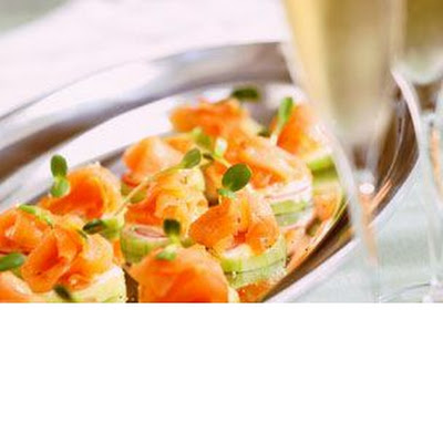 Cucumber Rounds with Smoked Salmon and Lime Aioli