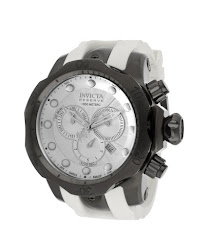 Invicta Men's Venom/Reserve Silver Dial White Polyurethane INVICTA-11966 Watch