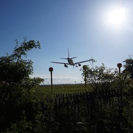 Landing at Liverpool John Lennon Airport by Pat Murphy - Transportation Airplanes