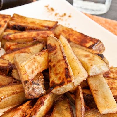 Cinnamon-Sugar and Ginger-Roasted Potato Sticks