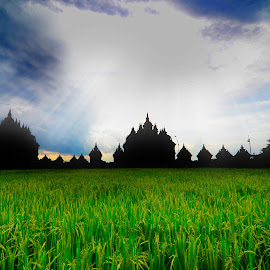 Plaosan Temple by Yuko Siswanto - Landscapes Prairies, Meadows & Fields
