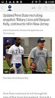 Screenshot of PennLive: Penn State Football