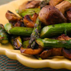 Roasted Asparagus and Mushrooms with Spike Seasoning