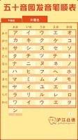 Screenshot of 日语五十音图