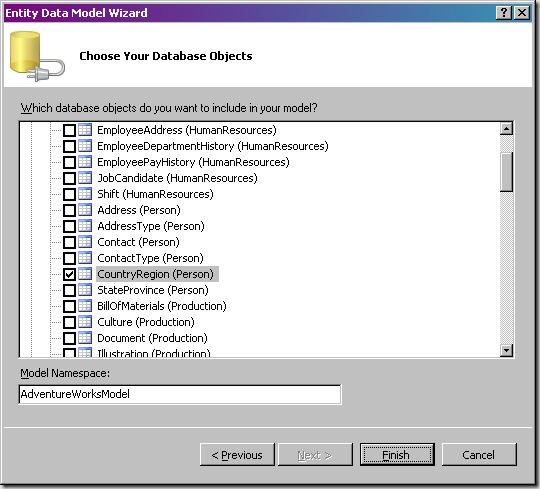 Step002c - Choose Your Database Objects