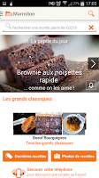 Screenshot of Marmiton : recettes de cuisine