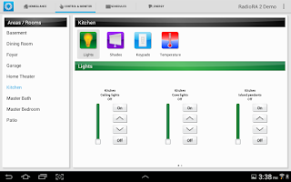 Screenshot of Lutron Home+