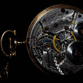 Time Machine by Chiradeep Mukhopadhyay - Artistic Objects Antiques ( pocket watch, macro, watch, close up, mechanical watch )