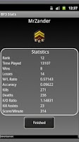 Screenshot of BF3 Stats Retriever
