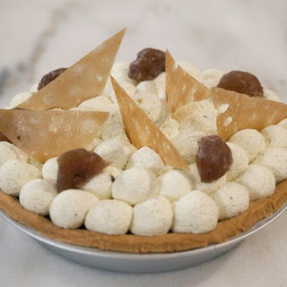 Chestnut Pie with Rum Cream