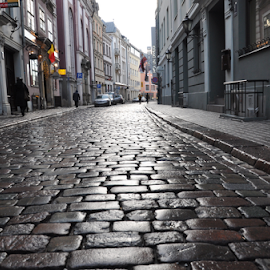 by Albina Jasinskaite - City,  Street & Park  Street Scenes