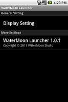 Screenshot of WaterMoon Launcher