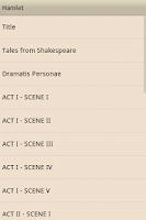 Screenshot of Hamlet by William Shakespeare