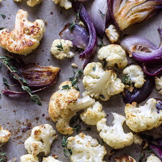 Mustard Roasted Cauliflower With Thyme