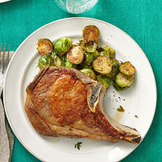 Pork Chops & Cider-Braised Brussels Sprouts