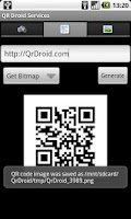 Screenshot of QR Droid Services™