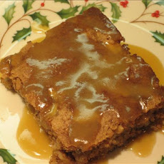 Autumn Apple Cake With Butter Sauce