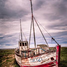 Iceland Abandoned Boat by David Long - Transportation Boats