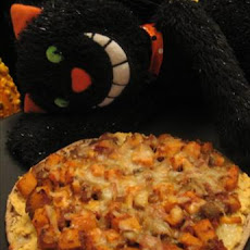 Low Fat Curried Red Lentil  & Sweet Potato Pizza (Vegetarian