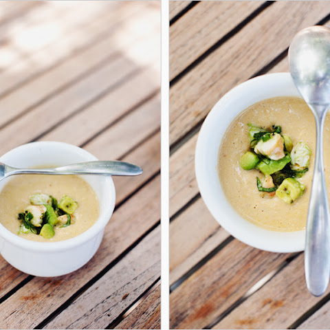 Summer Corn Soup with Shrimp