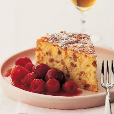 Italian Rice Cake With Red Fruit