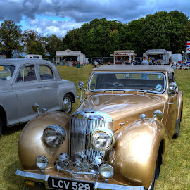 Golden Dream Machine by Mick Tate - Transportation Automobiles ( car, ramsey, vintage, class, display, gold, 1940 )