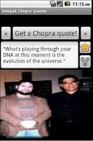 Screenshot of Deepak Chopra Quotes