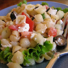 Greek Pasta Shells Salad