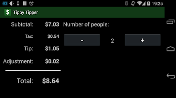 Screenshot of Tippy Tipper (Tip Calculator)