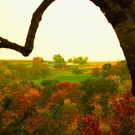 Autumn landscape by Dan Dusek - Landscapes Prairies, Meadows & Fields ( autumn, farmland, autumn colors, landscape, farm fields )
