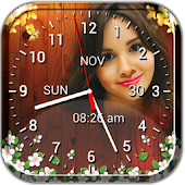 Photo Clock Live Wallpaper