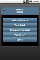 Screenshot of Lawson Mobile Employee
