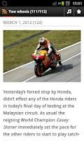 Screenshot of Moto World News