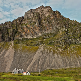 Hvalnes by Kristín Hávarðsdóttir - Buildings & Architecture Homes ( isolated, iceland, mountain, green, remote, house )
