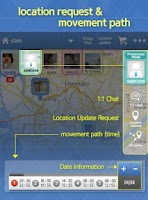 Screenshot of Famy - Family chat & Locator +