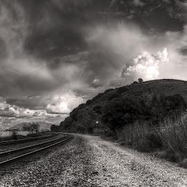 Dark Clouds by Arvind Mallya - Landscapes Cloud Formations ( port costa, california, mt diablo, dark clouds, usa )