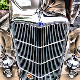 Grilled to Perfection by Michael Lopes - Transportation Automobiles ( classic car, classic ford, old automobile, restored car )