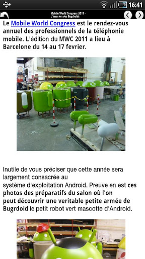 Application Android France