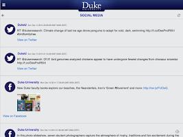 Screenshot of DukeMobile