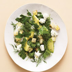 Avocado Salad with Farmer Cheese