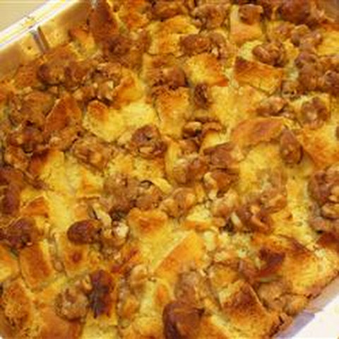 Sweet Potato, Pear and Pineapple Bread Pudding