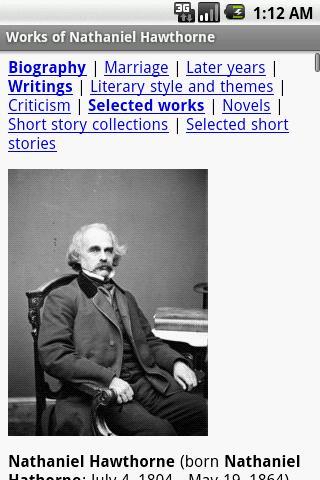 【免費書籍App】Works of Nathaniel Hawthorne-APP點子