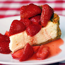 Strawberry Cointreau Sour Cream Custard Flan