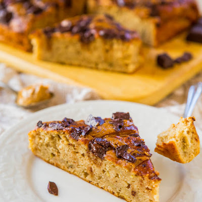Peanut Butter Chocolate Chunk Banana Cake