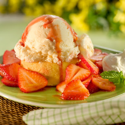 Strawberry Topped Ice Cream Tartlets